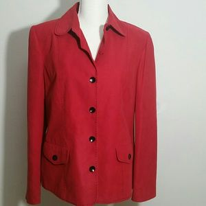 Red microsuede 8 Blazer Alfred Dunner